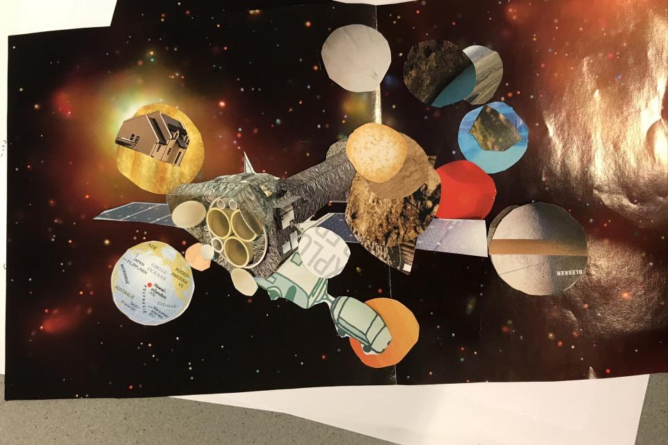 Collage 'de wereld van morgen'