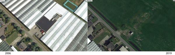 Elementen in het landschap zoeken met Google Earth