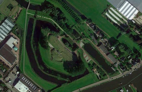 Luchtfoto Fortboerderij Dijkzicht