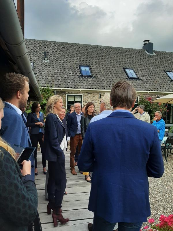 Kajsa Ollongren op bezoek in Rijsenhout | Foto: Podium voor Architectuur